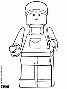 Lego toys minifigure coloring page