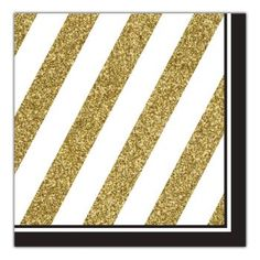 Use these black and gold striped napkins to celebrate any special occasion! Mix and match them with our black and gold party decorations.