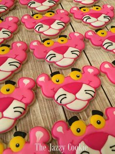 The Jazzy Cookie - Pink Panther cookies