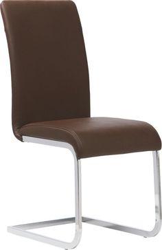 """Der Schwingstuhl """"Benedikt"""" passt perfekt in Ihr Esszimmer! Die Sitzfläche ist mit echtem Leder in Braun bezogen und aufwendig gewachst. Dank der Schaumstoffpolsterung wird der Sitzkomfort zusätzlich erhöht. So genießen Sie und Ihre Gäste beispielsweise ein stilvolles Dinner oder verbringen einen geselligen Spieleabend. Das Gestell ist dabei hochwertig verchromt und rundet Ihren Schwingstuhl harmonisch ab!"""