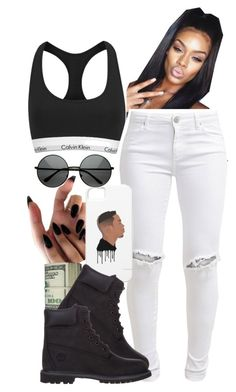 """""""I want you to take me serious ~Jayva"""" by dopest-queens ❤ liked on Polyvore featuring FiveUnits, Timberland and Calvin Klein"""
