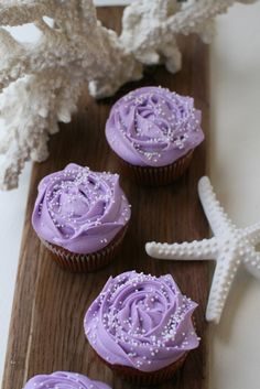 Red Velvet with Roses Lilac Frosting