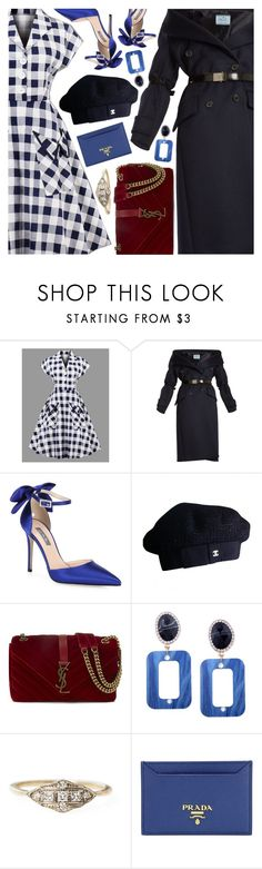 """A Plaid Dress Look FT. Rosegal"" by amberelb ❤ liked on Polyvore featuring Prada, SJP, Chanel and Yves Saint Laurent"