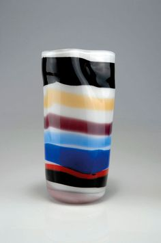 Luciano Vistosi (attributed). 'A fasce' vase. H. 29.5 cm. Designed c1955.