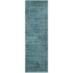 Safavieh Vintage Green Woven Runner (Common: 2-ft x 10-ft; Actual: 26-in x 120-in)
