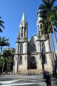 Catedral da Sé - The Metropolitan Cathedral of St Paul, São Paulo, Brazil by Rodrigo_Soldon, via Flickr
