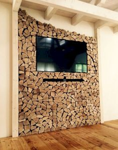 16 Creative Log Furniture Ideas to Own at Home www.futuristarchi… 16 Creative Log Furniture Ideas to Own at Home www. Wall Design, House Design, Tv Wand, Log Furniture, Furniture Ideas, Smart Furniture, Recycled Furniture, Bedroom Furniture Design, Western Furniture