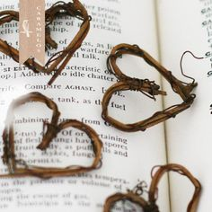 6 Miniature Natural Grapevine Heart Wreaths Rustic by caramelos