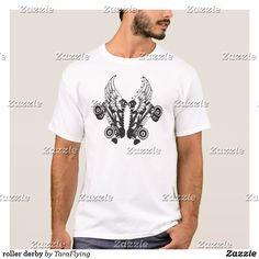 roller derby T-Shirt #tshirt #shirt #tee #fashion #style #illustration #design #art #buy #shop #shopping #buyart #artforsale #cool #sweet #awesome #drawing #blackandwhite #Illustration #skate #skating #skater #angel #angelwings #rad