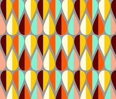 alison's fetching fletching © nadiahassan @Spoonflower
