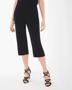 Our fluid crops are endlessly versatile in the wildly popular Travelers knit. Our finely ribbed Travelers knit is wrinkle-resistant. Pull-on styling with ribbed elastic waistband. Travel Clothes Women, Clothes For Women, Petite Pants, Short Styles, Diva Fashion, Free Clothes, Cropped Pants, Pants For Women, Classic