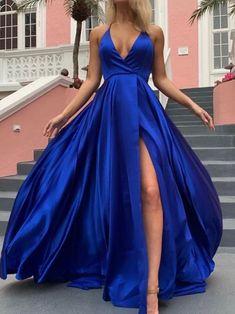 Simple Deep V Neck Royal Blue Long Prom Dress with Slit, 2019 Prom Dress Party D. - Simple Deep V Neck Royal Blue Long Prom Dress with Slit, 2019 Prom Dress Party Dress Source by - Formal Dresses Uk, Cheap Prom Dresses Uk, Royal Blue Prom Dresses, Backless Prom Dresses, Prom Party Dresses, Dress Party, Dresses Dresses, Royal Blue Party Dress, Prom Dresses Silk