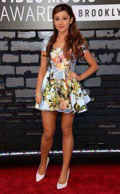 Ariana Grande from 2013 MTV Video Music Awards Red Carpet Arrivals | E! Online #VMAs