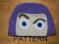 Buzz Light Year Toy Story Crochet Hat Pattern. $5.50, via Etsy.