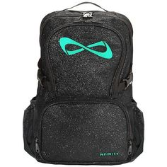 Nfinity Black Sparkle Backpack | Cheerzone ❤ liked on Polyvore featuring bags, backpacks, black sparkle backpack, black rucksack, sparkle backpack, rucksack bag and black knapsack