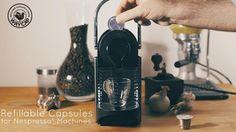 Cápsulas de café de acero inoxidable recargables, compatibles con las máquinas Nespresso.