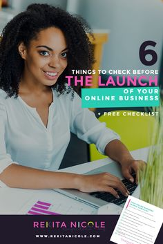 6 Things to Check Before You LAUNCH Your Online Business + Free Checklist · Rekita Nicole
