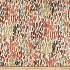 Kelly Ripa Array of Colors Valance Lined or Unlined Designer Fabric Make It Rain Nectar Orange Blue Grey Gray Yellow Tablecloth Fabric, Chair Fabric, Drapery Fabric, Wall Fabric, Curtains, Fabric Shop, Watercolor Design, Abstract Watercolor, Watercolour