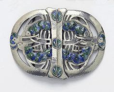Jessie M King. Belt buckle designed for Liberty & Co. View 1.