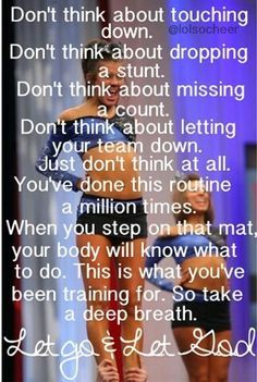 Inspirational Cheer Competition Quotes by Pricilla Tremblay During the stages associated with cheerleading the Cheer Coaches, Cheer Stunts, Cheer Dance, Team Cheer, Cheer Jumps, Varsity Cheer, Cheer Qoutes, Cheer Sayings, Competition Quotes