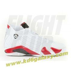 Air Jordan 14 og white black varsity red