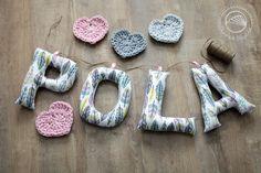 Litery | Letters  #handmade #sewing #crochet #owoceszycia