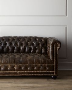Old Hickory Tannery St. Andrews Leather Sofa - #Horchow