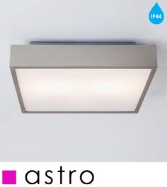 ASTRO 'TAKETA PLUS' IP44 BATHROOM CEILING LIGHT, MATT NICKEL - 0934 None