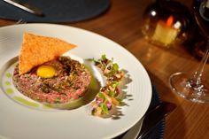 Imperial Farms Wagyu Steak Tartare pickled shimeji mushroom, quail egg