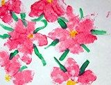 Artsonia Art Exhibit :: Sponge Painted Poinsettias