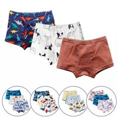 Sharks Blue Cartoon Plaid Mens Sport Boxer Brief Breathable Underwear