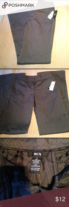 Macy's bcx trouser New with tags! Size 3 trouser, gray with white pin striping. BCX Pants Trousers