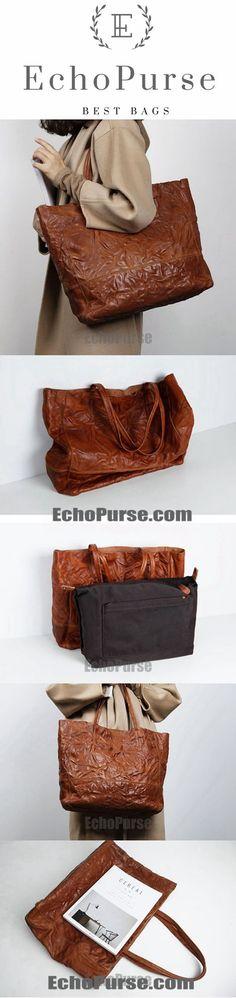 Genuine Leather Tote Bag, Fashion Handbags, Ladies Shopper Bag BG078