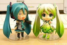 I found 'Hatsune Miku leek nendoroid' on Wish, check it out! Chibi Anime, Anime Kawaii, Anime Manga, Vocaloid, Miku Chan, Mikuo, Funko Figures, Cute Girl Drawing, Anime Toys