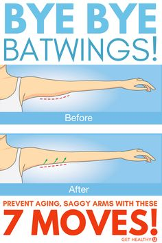 Flabby arms are a problem for EVERYONE. As we age, our arms very often become a problem area. Say GOODBYE to batwings with these 7 moves! Fitness Tips, Fitness Motivation, Health Fitness, Fitness Routines, Toning Workouts, At Home Workouts, Triceps Workout, Tricep Workout Women, Training