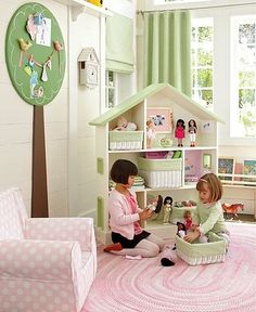 Love the tree in this playroom.