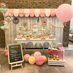 Baking Birthday Parties, First Birthday Parties, Birthday Party Themes, First Birthdays, Sweet Party, Princess Tea Party, Birthday Candy, Donut Party, Paris Party