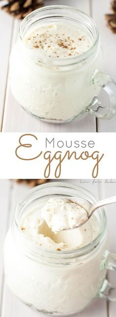 This Eggnog Mousse with Gingerbread Streusel is the perfect make-ahead dessert for your holiday entertaining. | http://livforcake.com