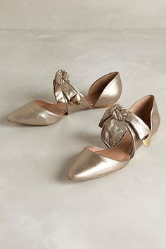 Gold Graciela D'orsay Shoes