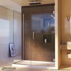 Dreamline Unidoor Plus 32-In To 32-In Frameless Hinged Shower Door She