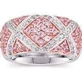 Pink Sapphire and diamond ring, like