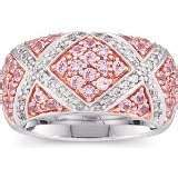 Pink Sapphire and diamond ring, like