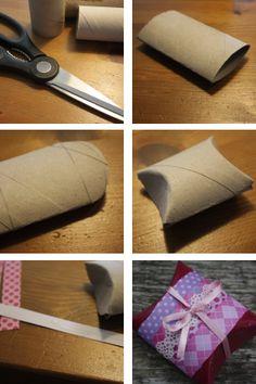 Grappig DIY cadeau doosje van een wc-rol. Kijk ook even op de site en vertel (in de reacties) wat je er van vindt! Ben benieuwd :)