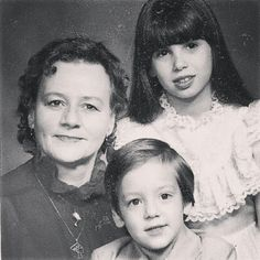Ruth Baker,RIP, with grandchildren Theresa and Ray.