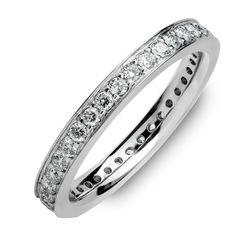 14K White-Gold Ring Pav