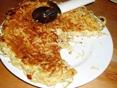 spaghetti pancake from leftover spaghetti...made this before and it was yummy!