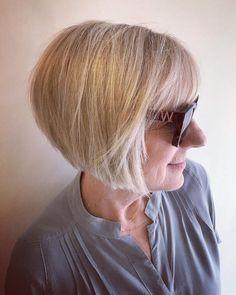 18 Long Angled Bob Haircuts Trending Now for 2020 Long Angled Bob Hairstyles, Thin Hair Haircuts, Hairstyles With Bangs, Bob Haircuts, Bob Haircut With Bangs, Haircut For Thick Hair, Stacked Bobs, Bobs For Thin Hair, Short Hair Styles