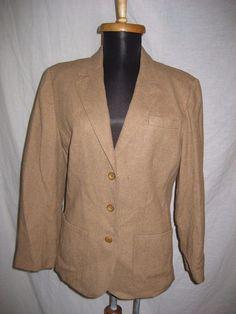 Vintage 1980s Pendleton School Boy Wool Caramel Blazer Jacket sz S - Made in USA #Pendleton #Everyday