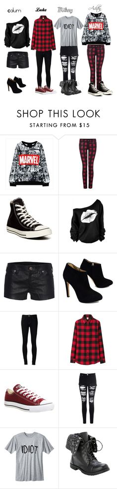"""""""Date look for each boy"""" by ashtonirwin1234 ❤ liked on Polyvore featuring Dex, Converse, True Religion, Giuseppe Zanotti, Ström, Uniqlo and Glamorous"""