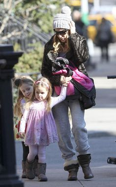 Sarah Jessica Parker & Kids: Sunny Strolls with @Appaman moto jackets!